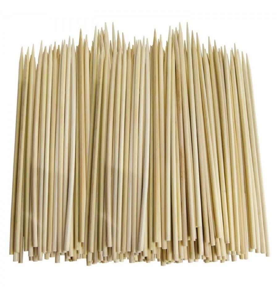 schaschlikspieß bambus 80mm (200 stück) - monouso.de
