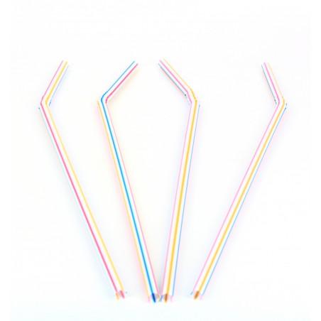 Trinkhalme flexibel farbig sortiert Ø5mm 23cm (10.000 Einheiten)