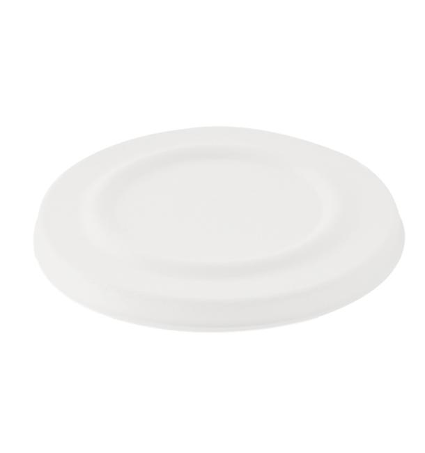 Deckel Zuckerrohr Weiß für Suppenbecher 425ml Ø95mm (50 Stück)