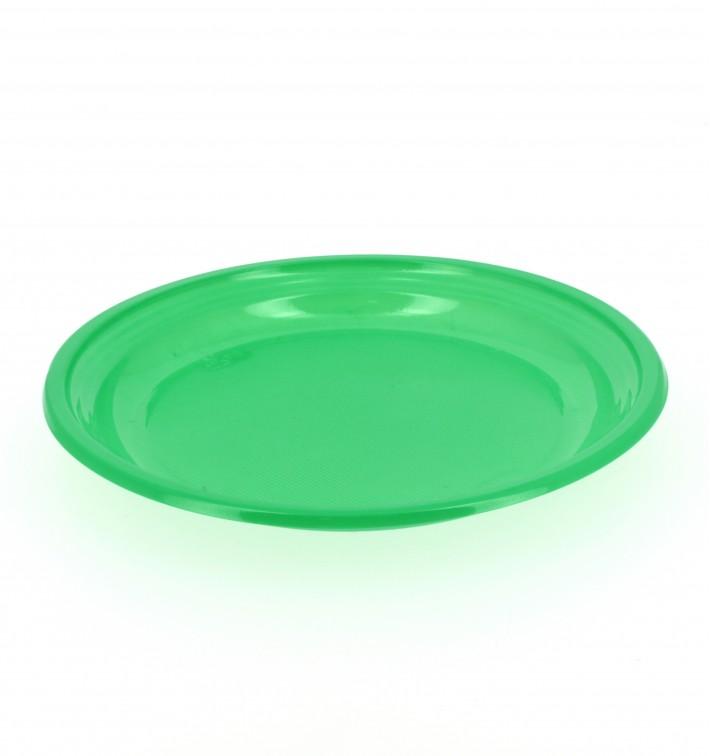 Plastikteller Flach Grün 205mm (960 Stück)