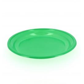 Plastikteller Flach Grün 205mm (10 Stück)