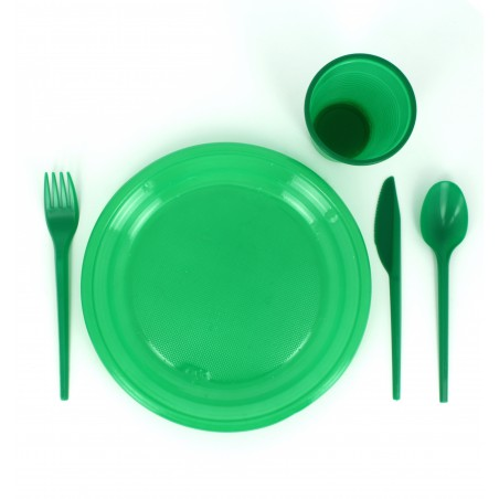 Plastikteller Flach Grün 205mm (960 Einheiten)