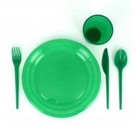 Plastikteller Flach Grün 205mm (10 Einheiten)