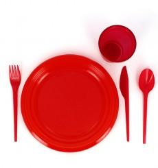 Plastikmesser Rot 165mm (900 Stück)