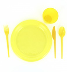 Plastikmesser Gelb 165mm (900 Stück)