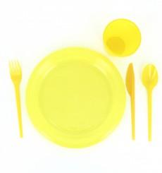 Plastikmesser Gelb 165mm (15 Stück)