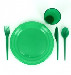 Plastikmesser Grün 165mm (15 Stück)