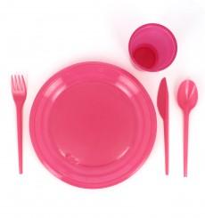 Plastikgabel Pink 165mm (15 Stück)