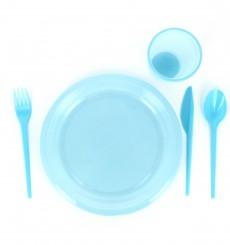 Plastiklöffel Blau 165mm (15 Stück)