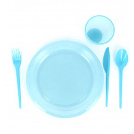 Plastikmesser Blau 165mm (15 Einheiten)