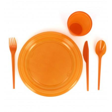 Plastikmesser Orange 165mm (15 Einheiten)