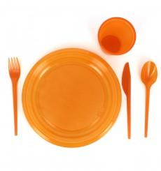 Plastikmesser Orange 165mm (15 Stück)