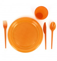 Plastikmesser Orange 165mm (900 Stück)