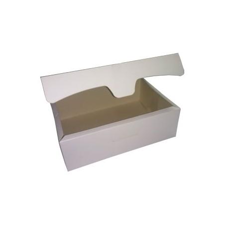 Caja para Pasteleria Carton 20,4x15,8x6cm 1Kg. Blanca (200 Uds)