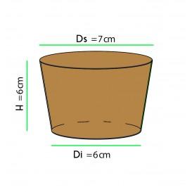 Karton Abdeckung für Becher Ø7 x h6 cm (100 Einheiten)