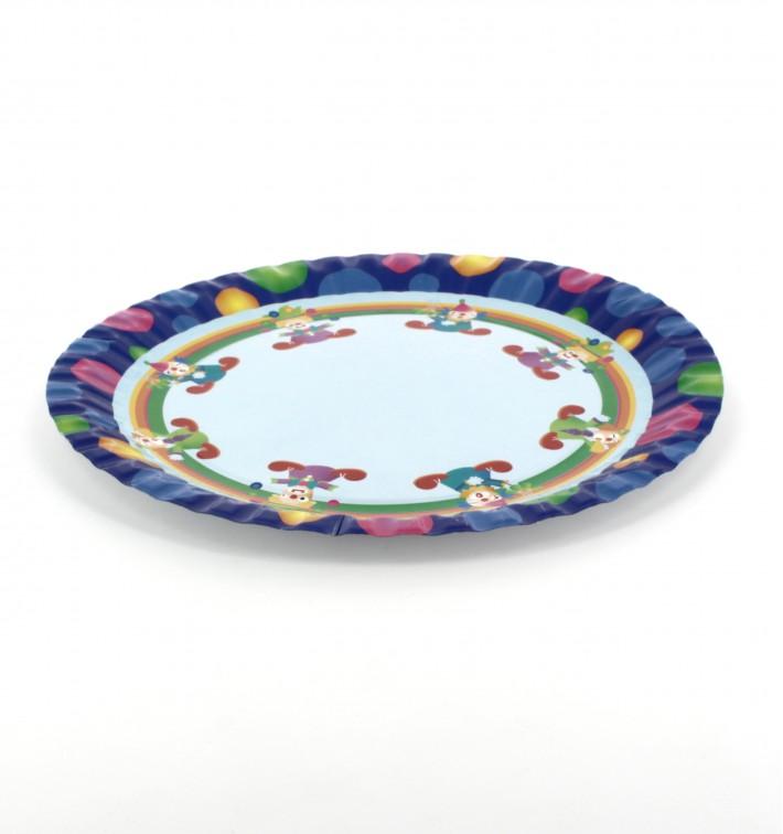 Pappteller Design Clown 23cm (504 Stück)
