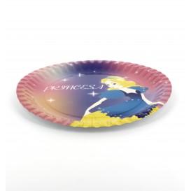 Pappteller Design Prinzessinen 23cm (8 Stück)
