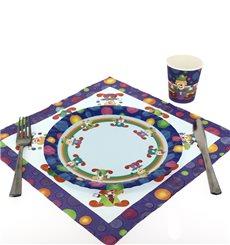Pappteller Design Clown 23cm (8 Stück)