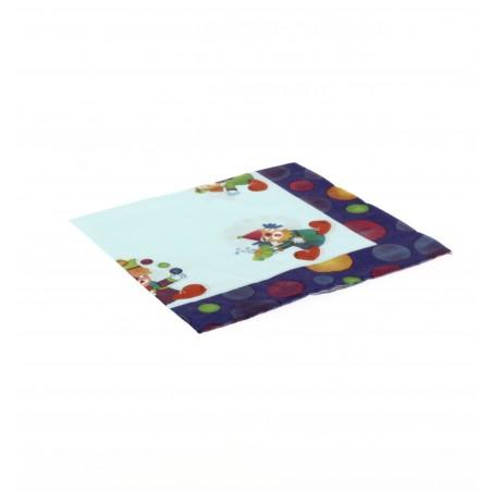 Papierservietten Clown Design 33x33cm (20 Einheiten)