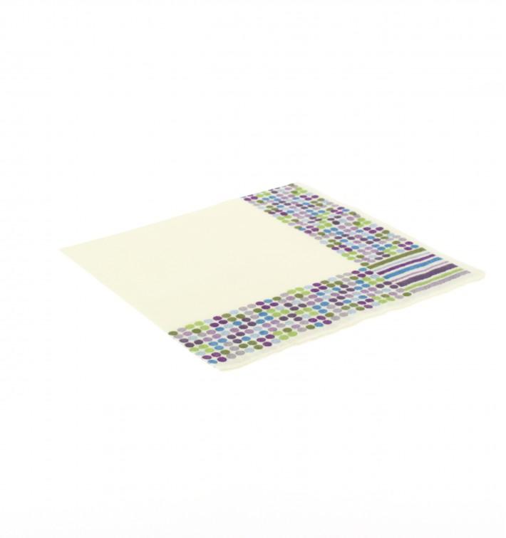 Papierservietten Design Striche und Punkte 33x33cm (20 Einh.)
