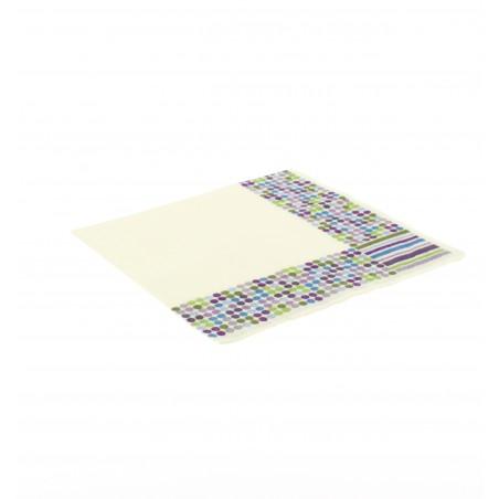 Papierservietten Design Striche und Punkte 33x33cm (500 Einh.)