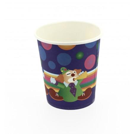 Kartonbecher Clown Design 200ml (500 Einheiten)