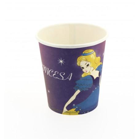 Kartonbecher Design Prinzessin 200ml (25 Einheiten)