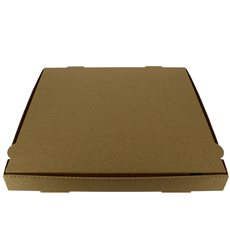 Pizzakartons 33x33x3,5cm Kraft (100 Stück)