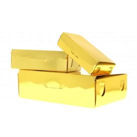 Box für Süßwaren und Konfekt gold 11x6,5x2,5cm (5 Einh.)