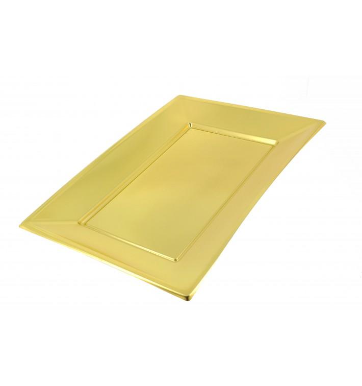 Plastiktablett Gold 330x230mm (12 Stück)