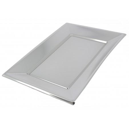 Plastiktablett Silber 330x225mm (180 Einheiten)
