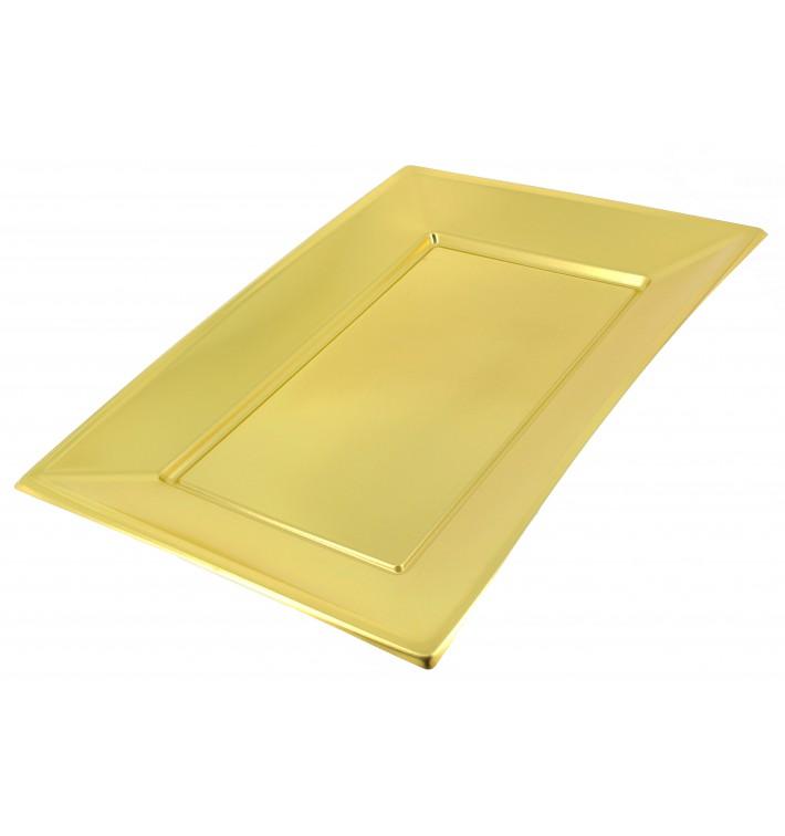 Plastiktablett Gold 330x225mm (2 Stück)
