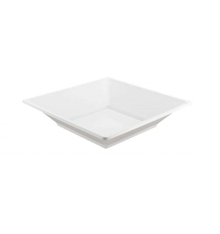 Viereckiger Plastikteller Tief weiß 170mm (750 Stück)