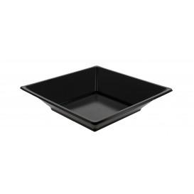 Plastikteller Viereckiger Tiefe schwarz 170mm (360 Einh.)