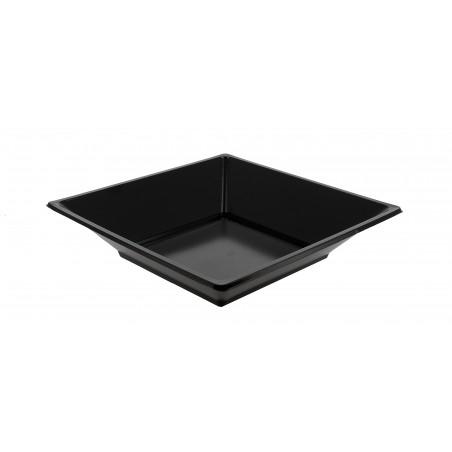 Plastikteller Viereckiger Tief schwarz 170mm (360 Stück)