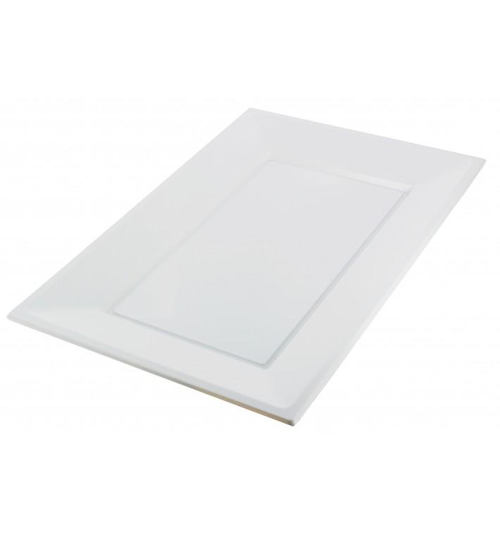 Plastiktablett weiß 330x225mm (3 Stück)