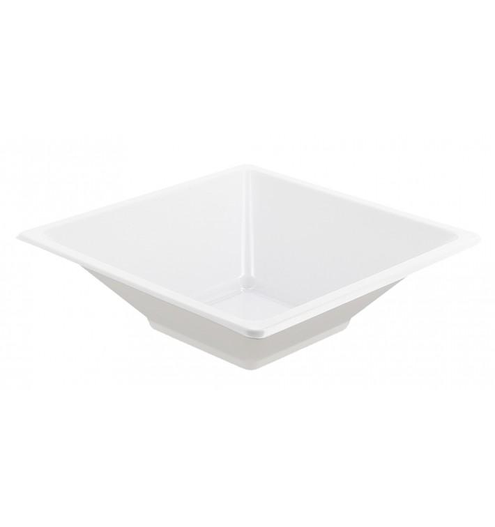 Viereckige Plastikschale Weiß 12x12cm (12 Stück)