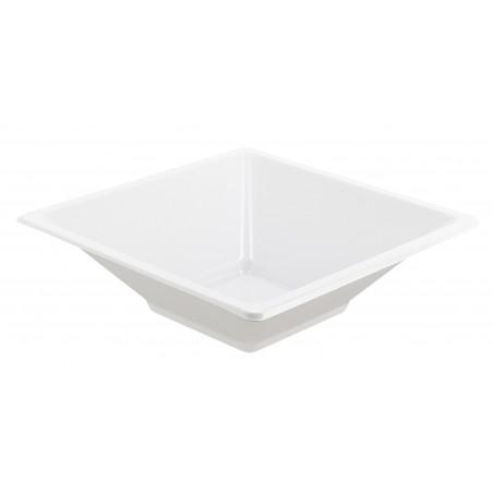 Viereckige Plastikschalen Weiß 12x12cm (25 Stück)