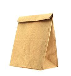 Papiertüten ohne Henkel Kraft braun 12+8x24cm
