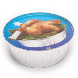 Pappdeckel für runde Aluschalen 1.900ml