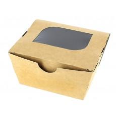 Box aus Pappe mit Sichtfenster 11x10x5,5cm (10 Stück)