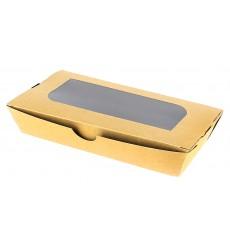 Box aus Pappe mit Sichtfenster 19x10x3,5cm (10 Stück)