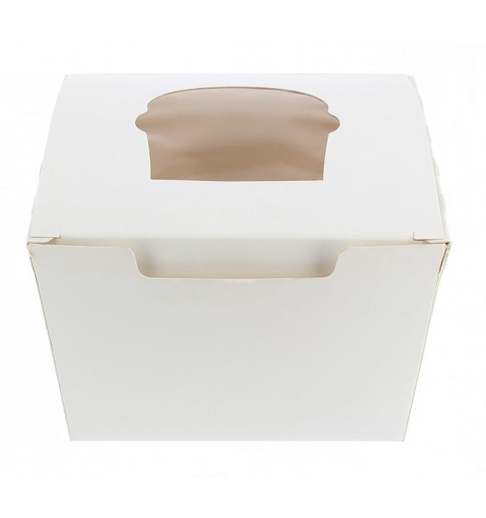 Cupcake Box für 1-Cupcake 11x10x7,5cm weiß (20 Einh.)