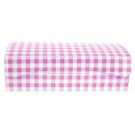 Gebäck-karton pink 20,4x15,8x6cm (200 Einh.)