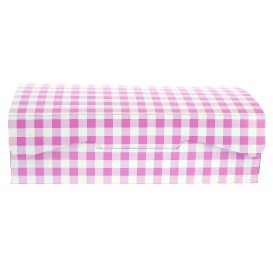 Gebäck Box pink 25,8x18,9x8cm 2Kg (25 Stück)
