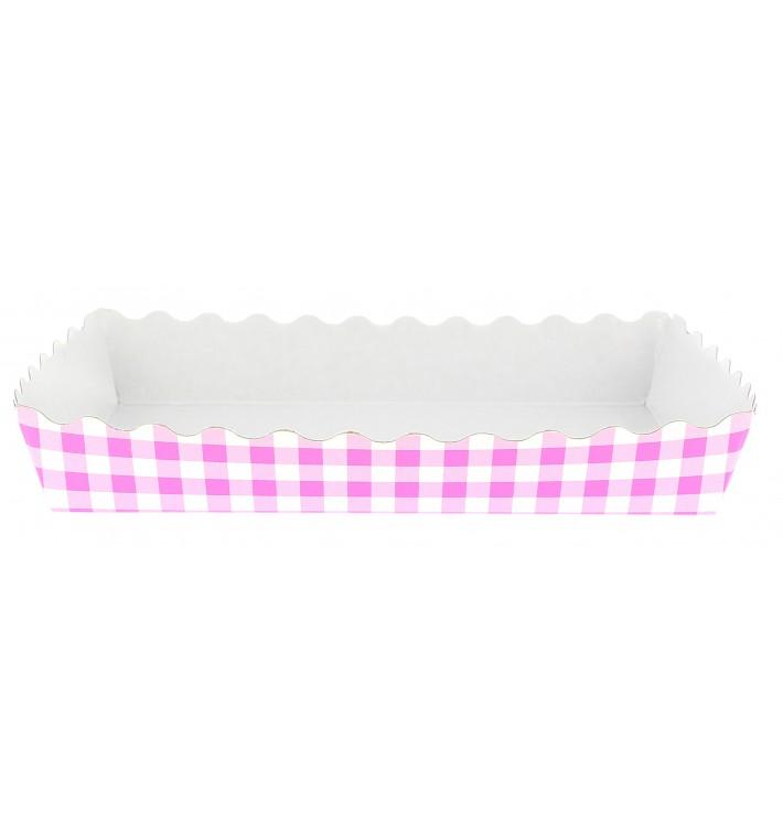 Pappschale pink geschlossen für Waffeln (500 Stück)