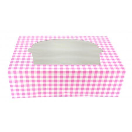 Cupcake Box für 6-Cupcake 24,3x16,5x7,5cm pink (20 Einh.)