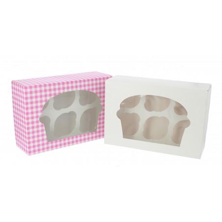 Cupcake Box für 6-Cupcake 24,3x16,5x7,5cm weiß (20 Einh.)