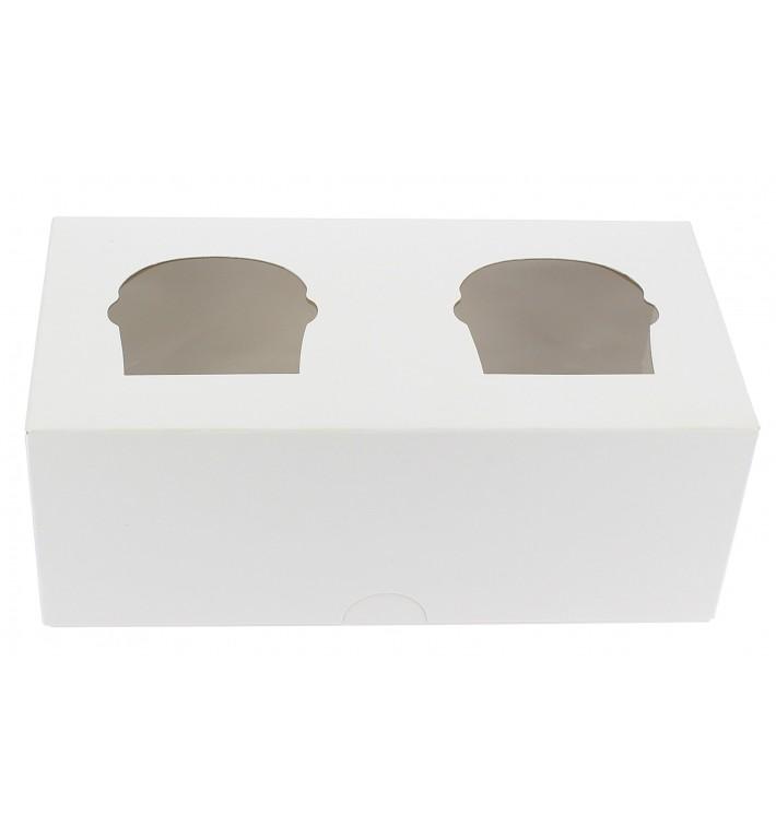 Cupcake Box für 2 Cupcakes 19,5x10x7,5cm weiß (160 Stück)