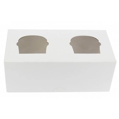 Cupcake Box für 2-Cupcake 19,5x10x7,5cm weiß (160 Einh.)